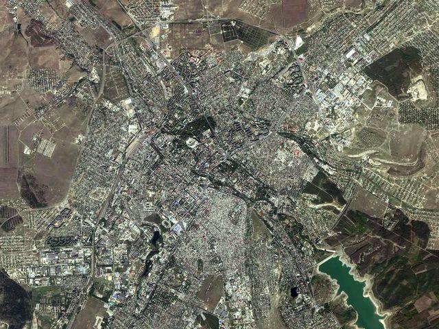 Симферополь из космоса