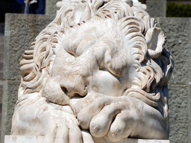 Каменный лев